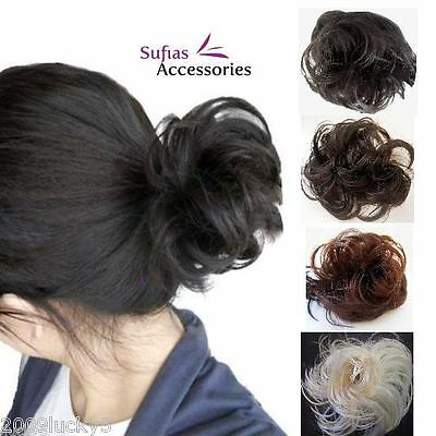 Head Hair Piece Scrunchie Bun Extension Synthetic Fake Ladies Girls Scrunchy Attraktive Mode