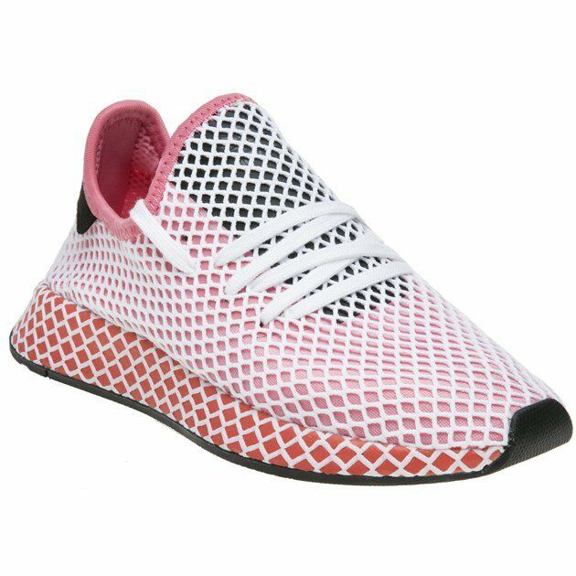 New femmes  adidas rose Deerupt Runner Nylon Trainers Running Style Lace Up