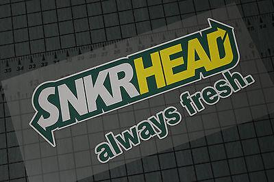 DUNKIN SNEAKA/' Sticker Decal Vinyl Sneaker Heads Jordans Shoes Kicks Nike