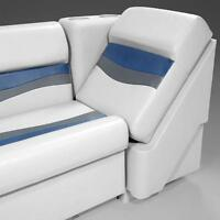 Left Lean Back Pontoon Seats In Gray, Blue And Charcoal