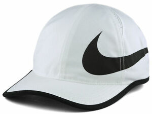 Image is loading NIKE-Dri-Fit-Featherlight-white-hat-cap-Running- b75d5d6a3190