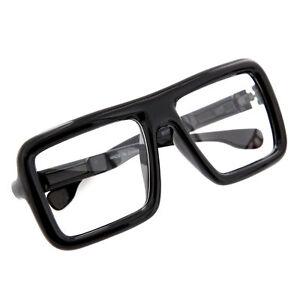 0b8cf37f8e2 Large Thick Retro Nerd Big Oversized Square Frame Clear Lens Glasses ...