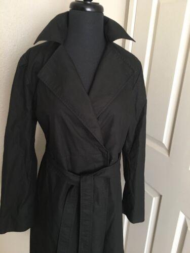 Model Coat New Fuldt Republic Banan M Bæltet Foret Floor Black Aldrig Solgt Cq85gAw