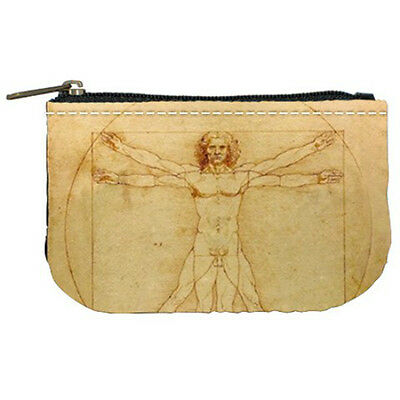 Leonardo Da Vinci Vitruvian Man Womens Coin Bag Purse