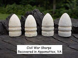 1-Rare-Vintage-Antique-Civil-War-Relic-Confederate-Sharps-Miniball-Appomattox