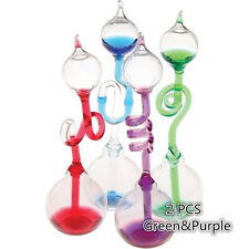Colorful Office Thinking Hand Boiler, Glass Science 2 PCS (Green&Purple)