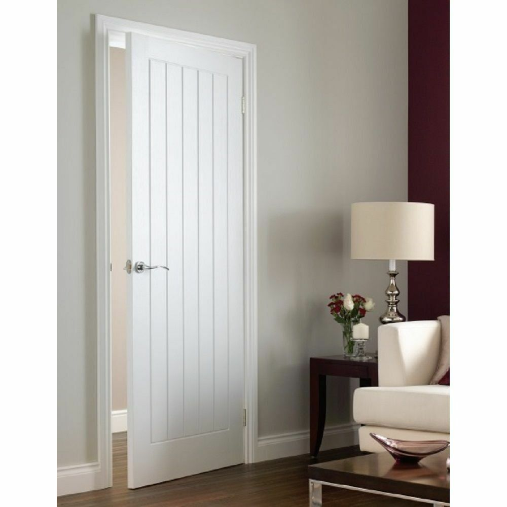 White Internal Doors Vertical 5 Panel Moulded Primed White