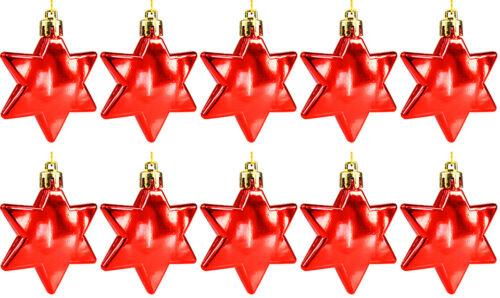 10 pièces Boules de Noël Boules de Noël décorations de Noël étoile