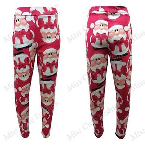 Image is loading NEW-WOMENS-LADIES-STRETCH-TAPERED-LEG-SANTA-FATHER- 78edae134c