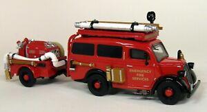 Matchbox-Yesteryear-YFE18-1950-Ford-E83W-Van-Trailer-Diecast-model-Fire-Truck