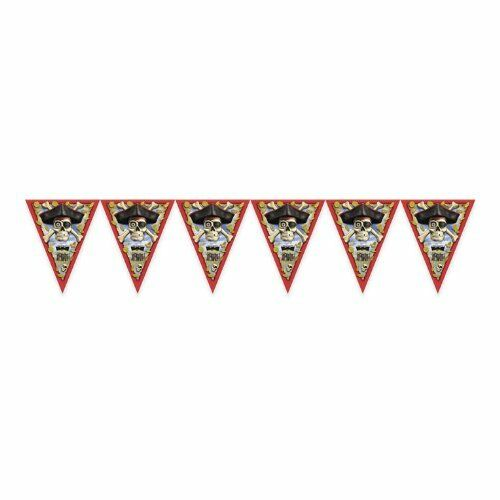 12 FT Pirate Triangle Flag Banner Flags 9 X 11 In Hanging Decoration Party 7-6B
