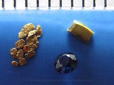 (IT) 1 lingotto oro puro 999,lingote,lingot or+12 pepite oro 0.6-1.5mm+1 zaffiro