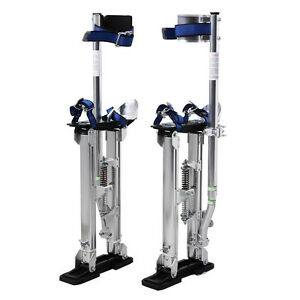 Silver 24 40 Inch Drywall Stilts Aluminum Tool Stilt For Painting Painter Taping