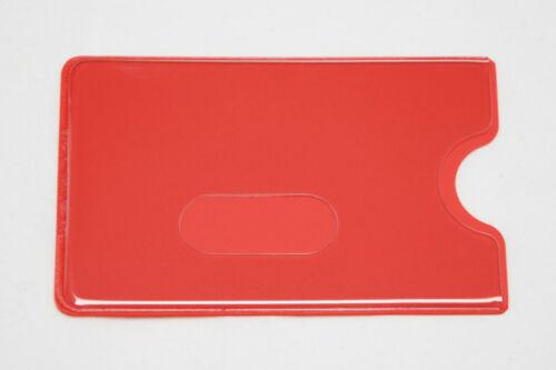 Kredit EC Kartenhülle Rot transparent STABIL Kartenbox Schutzhülle Einlasskarte