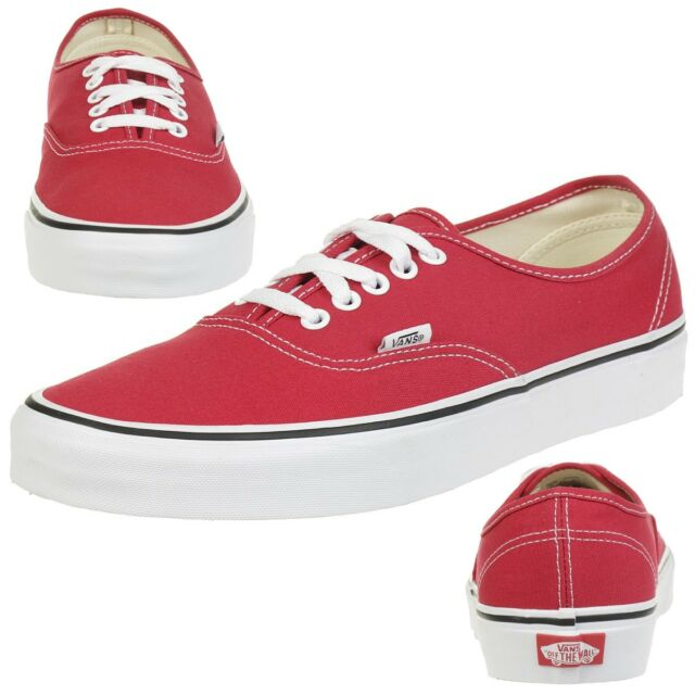 29a677814db284 VANS Authentic Crimson True White Mens Womens Trainers UK Size 7 for ...