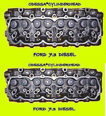 2 FORD INTERNATIONAL 7.3 DIESEL CYLINDER HEADS F250 F350 REBUILT