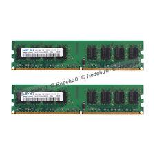 Samsung 4GB 2x2GB DDR2 667Mhz PC2-5300 Desktop 240Pin Low density Dimm Memory