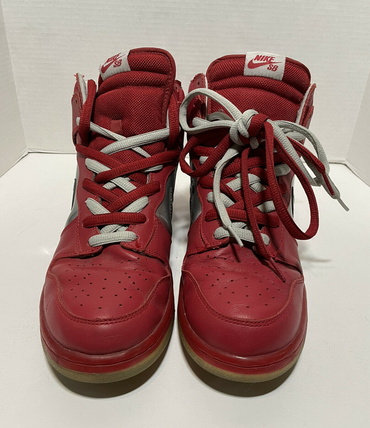 2006 Nike Mork And Mindy SB Dunk High Red/silver … - image 3