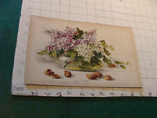 1800's Raphael Tuck STUDY OF LILAC AND ALMONDS by C. Klein Chromolitho