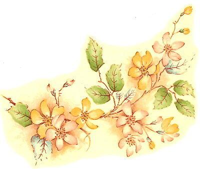 Ceramic Decals NATALIE Dogwood Floral Flower Branch