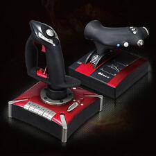 2X Flight Control Simulator System Dual Vibration Controller USB Joystick For PC