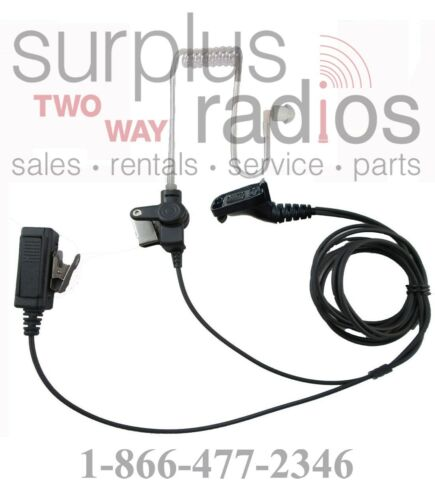 Surveillance Lapel Mic Headset For Motorola XPR6550 XPR6500 XPR6350 XPR6580