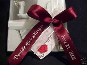 Image Is Loading Personalized Ribbons Already Bowed 100 Bows Weddings Birthdays