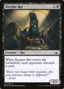 4 BURGLAR RAT ~mtg NM//M Guilds of Ravnica Com x4