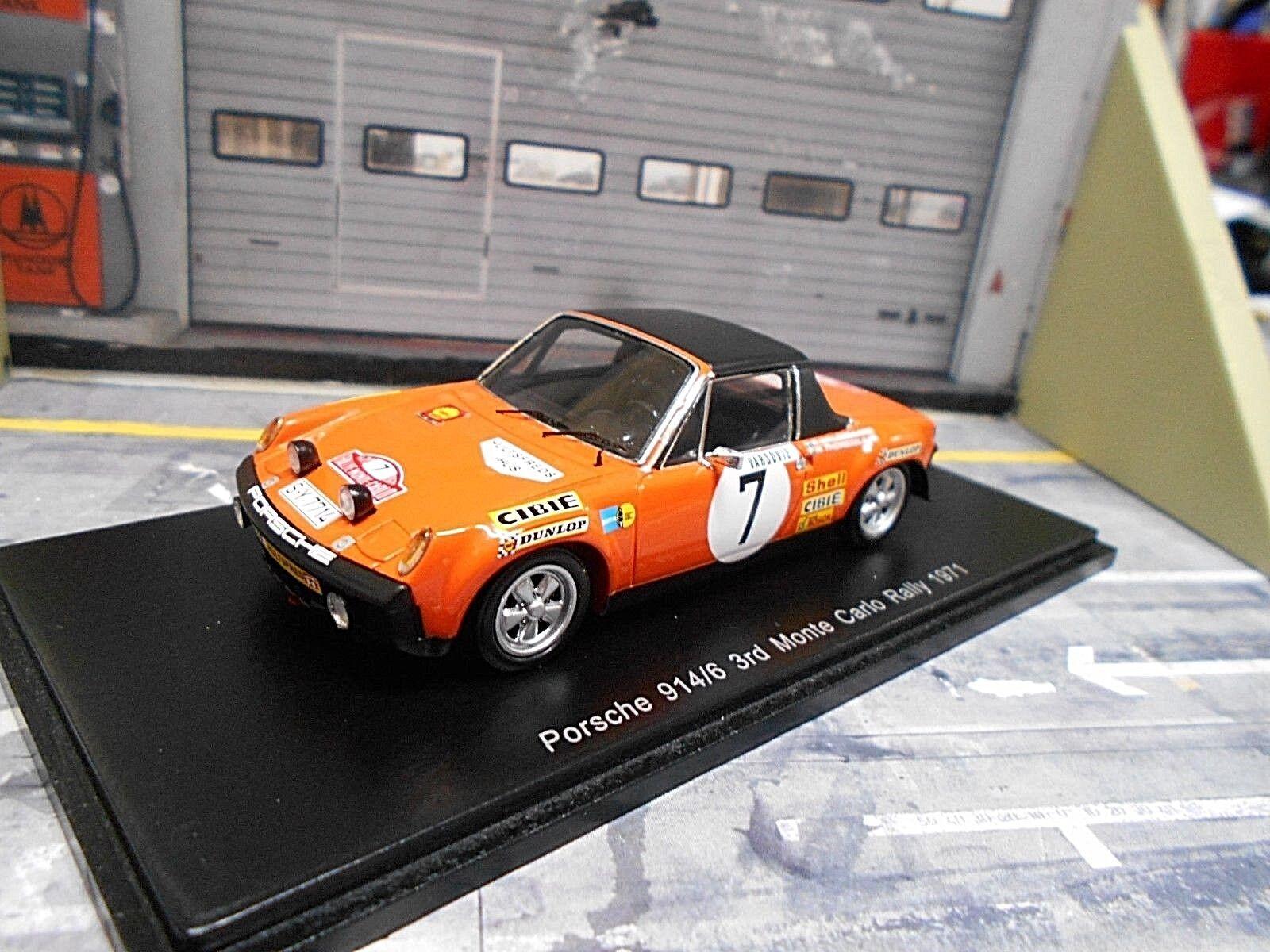PORSCHE 914 6 914 Rallye Monte Carlo 1971 1971 1971 Waldegaard Nightversion Spark 1 43 698163