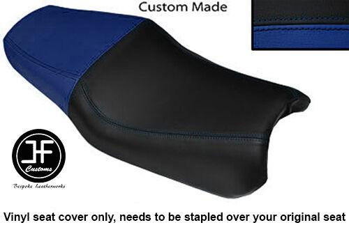 ROYAL BLUE AND BLACK VINYL CUSTOM FITS HONDA NSR 125 98-03 DUAL SEAT COVER ONLY