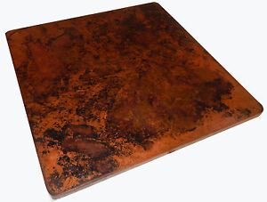 Image Is Loading Mexican Square Copper Table Top Hand Hammered 48
