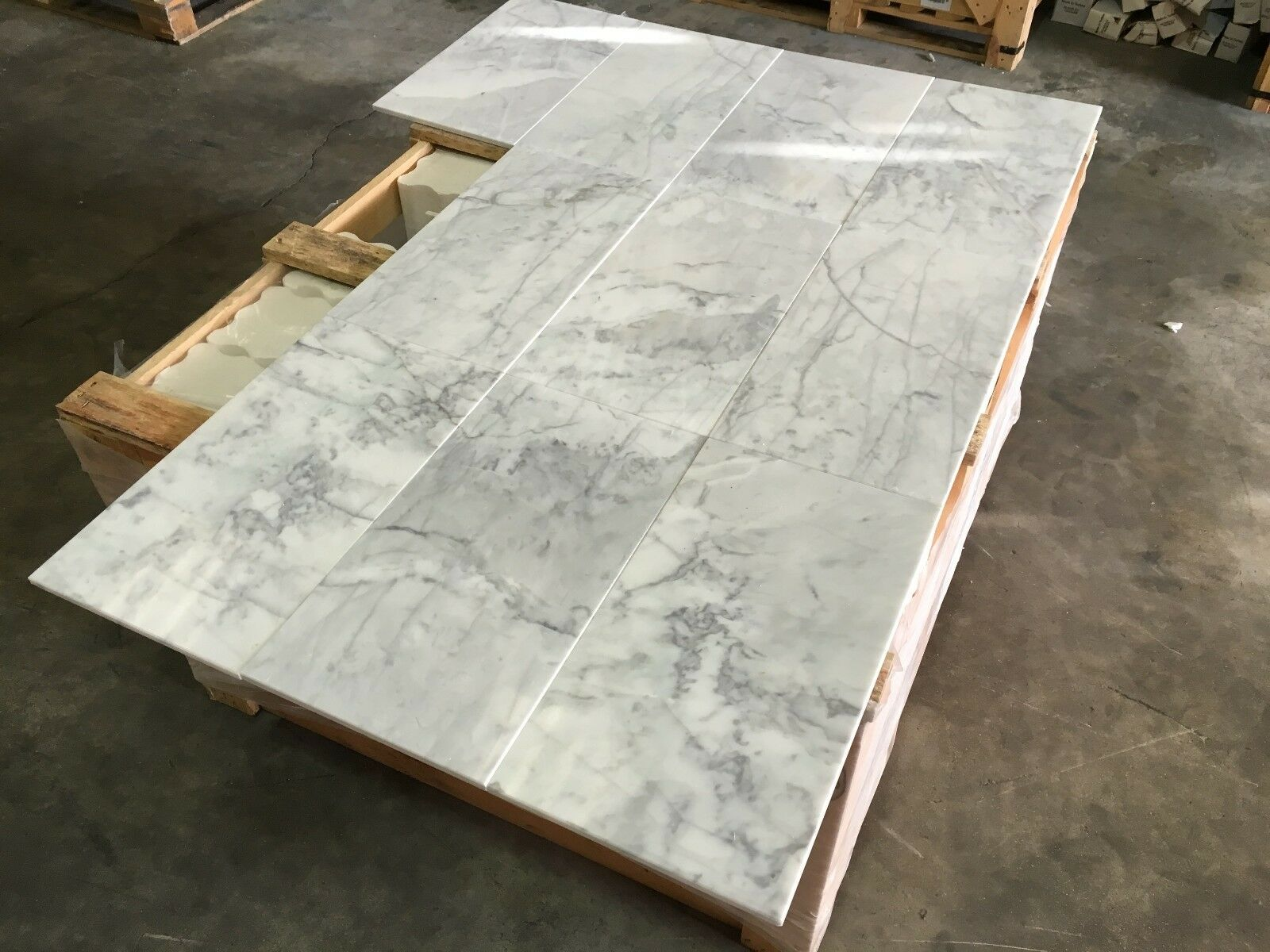 Statuario Marble Tiles, Polished Italian Marble Tile, Floor  Wall, 228x457x10mm