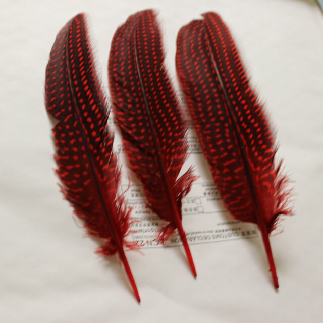 "Wholesale 5/10/20/50/100 PCS guinea fowl wing feather 6-8""/15-20 cm U Pick color"