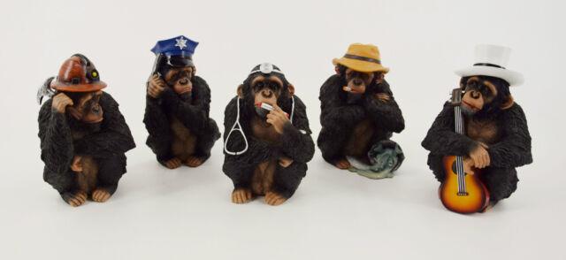 Dekobote, Lustige Poly Affen Polizist Arzt Musiker funny monkey witzig Berufe