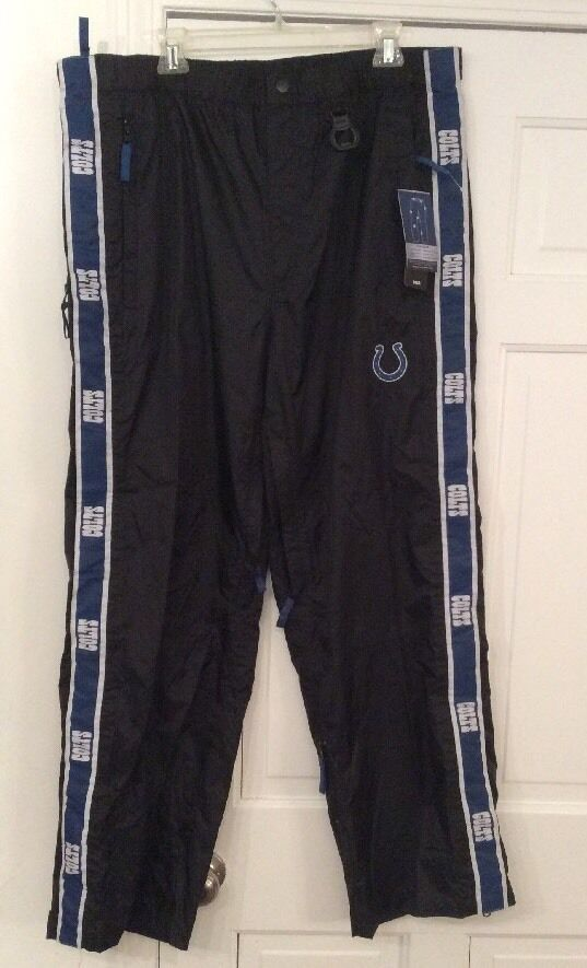 NFL Colts Men's Tail-Gaiters Ultimate Outdoor Tailgaters Tailgate Pants XLarge