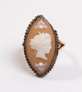 Chalcedony /& Pearl Shell Stick Pin Antique 18 CT White Gold