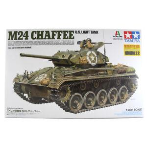 Tamiya-Italeri-M24-Chaffee-US-Light-Tank-Model-Set-Scale-1-35-37020-NEW