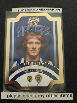 Sports Trading Cards Australian Football Cards Smart 2015 Afl Honours 2 The Masters Die Cut Card Mbm26 Keith Greig 226/300 To Enjoy High Reputation At Home And Abroad