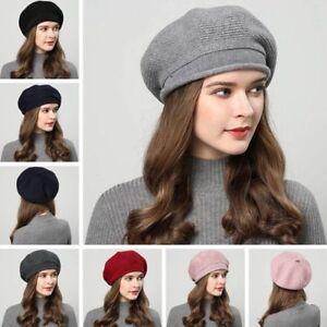 Women-Beret-Beanie-Hat-Winter-Knitted-Crochet-Slouchy-Knit-Baggy-Loose-Ski-Cap