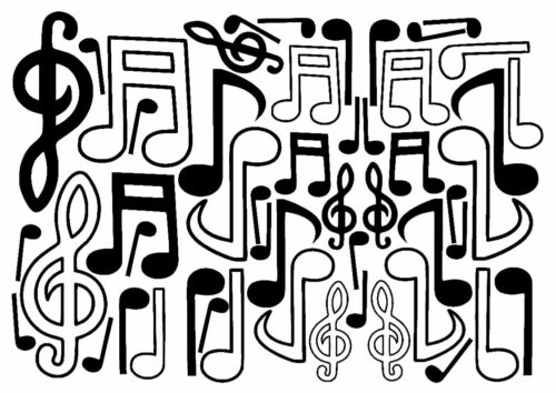 Musical Notes x 50 wall art kids stickers More than 20 colors! car decals