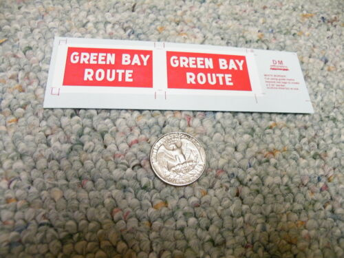 Herald King decals G Gauge GBW Green Bay Route heralds 2' x 3.75'   XX178