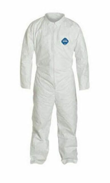 25 White Disposable Micromax Coveralls Size XXL