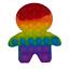 miniature 21 - Push it Pop up Bubbles Fidget Blasen Drücken Spielzeug Toy Antistress Regenbogen