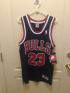 super popular aaec9 aa0e8 Details about Michael Jordan sewn bulls jersey player edition 1996-97 Nike  small rare tags og