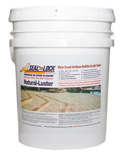 Seal N Lock Natural Luster Concrete Paver Sealer 5 Gallon