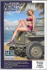 Master Box Pin Up Girl, Gal 1/24 Kit No. 6 Compliment to Cars, Trucks  006 ST