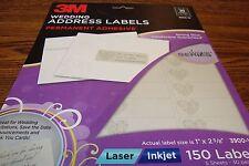 150 3M Fancy Designer Series Wedding Address Labels DIY Laser/Inkjet Heart image