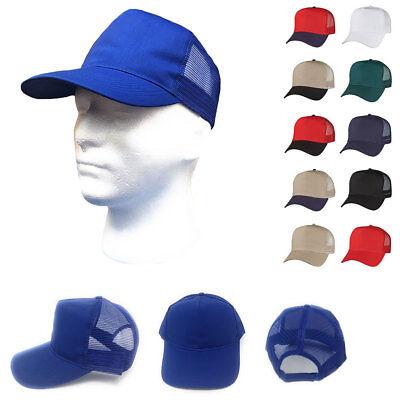 Hüte & Mützen Temperamentvoll 1 Dutzend Baumwolltwill Baseball Netz Trucker 5 Panel Hut Großhandel Bulk Um Jeden Preis Herren-accessoires