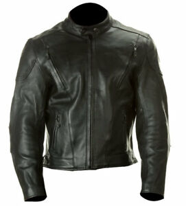 bdc10541ec0e Image is loading Xelement-B4710-Mens-Black-Thick-Cowhide-Leather-Motorcycle-
