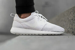 Nike Roshe Run Breeze Triple White UK 5
